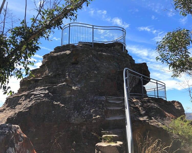 Elevated lookout platform on top of Anvil Rock