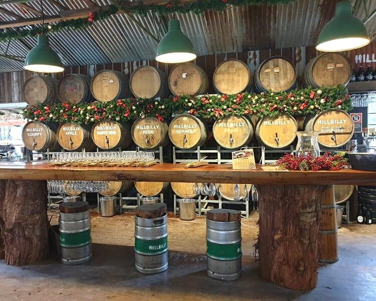 Cider tasting in Bilpin