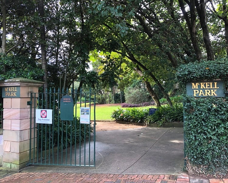 McKell Park in Darling Point