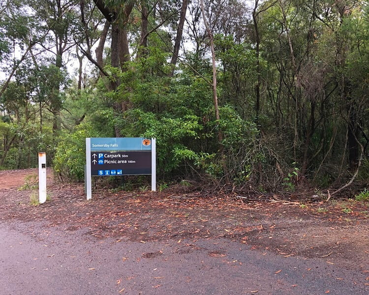 Carpark for Somersby Falls