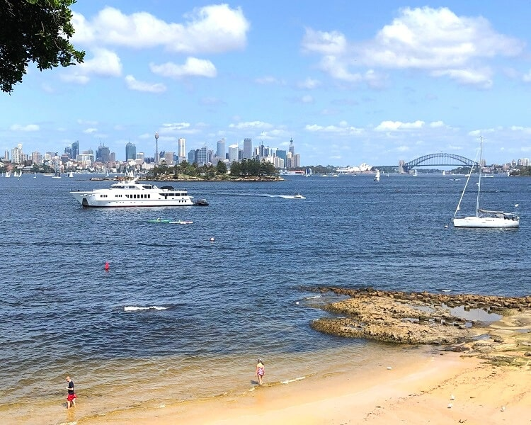 Milk Beach is a secluded beach in Sydney