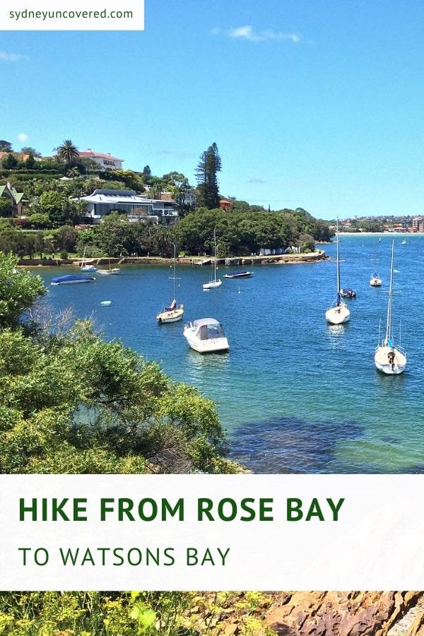 Rose Bay to Watsons Bay walking track