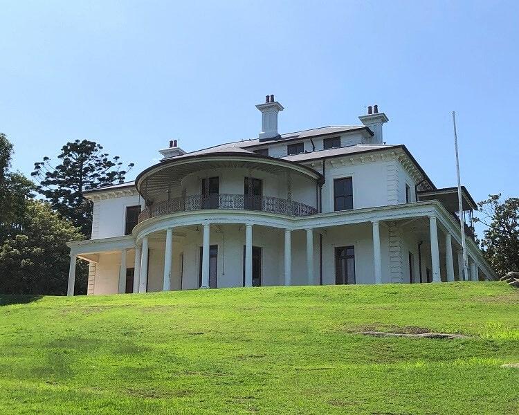 Strickland House just behind Milk Beach