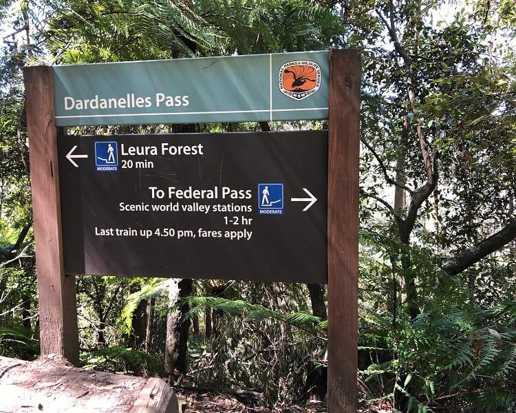 Dardanelles Pass signpost