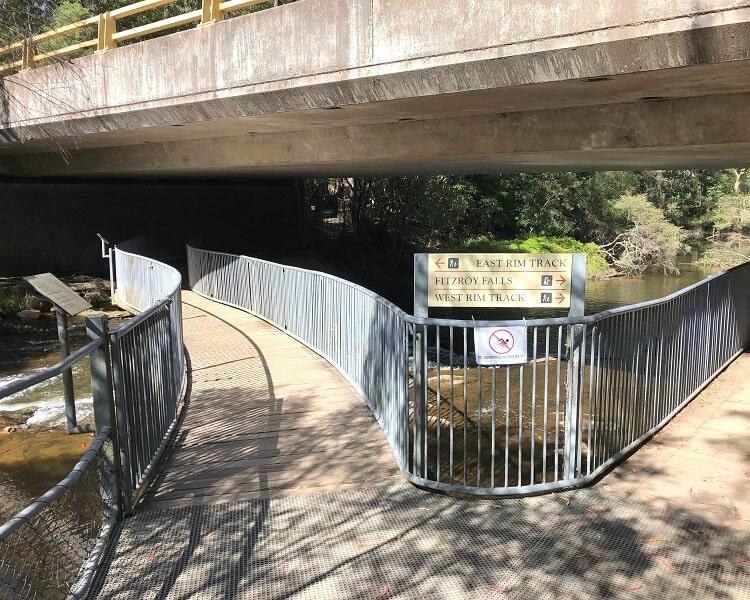 Fitzroy Falls walking tracks intersection