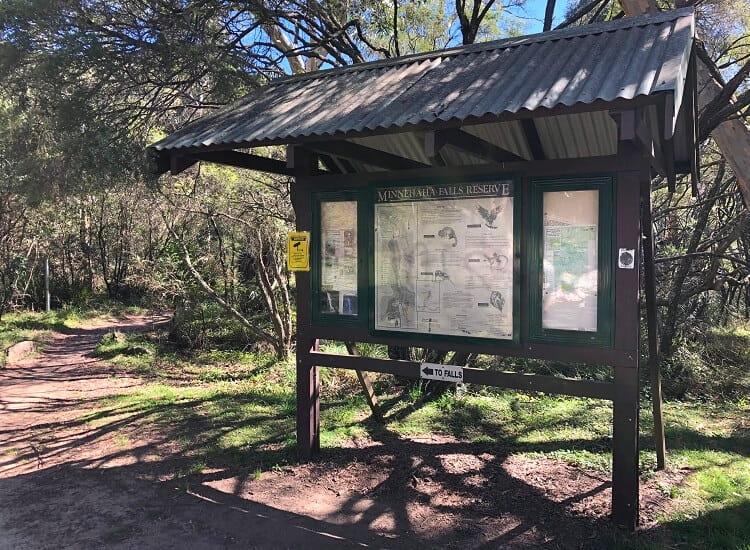 Information board at Minnehaha Falls Reserve
