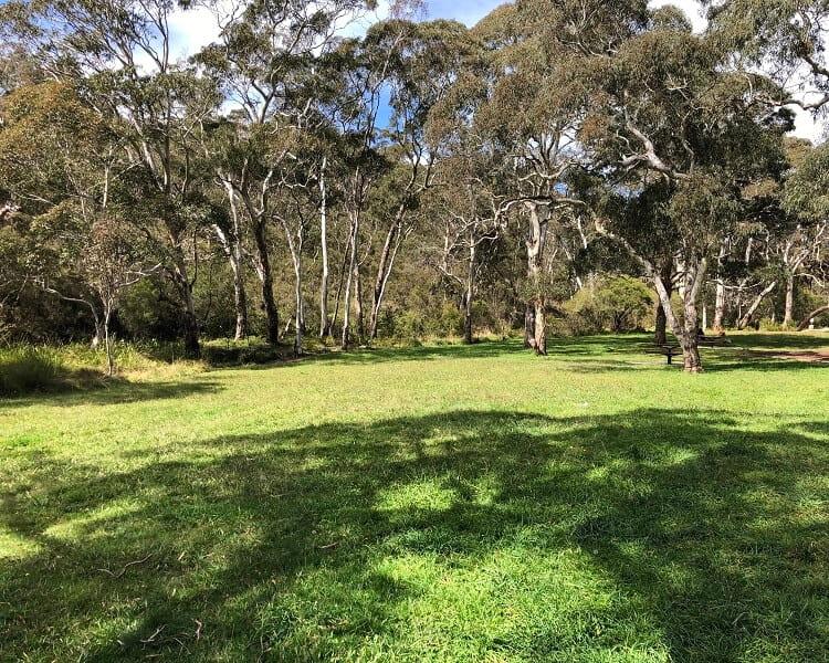 Picnic area at Minnehaha Falls Reserve