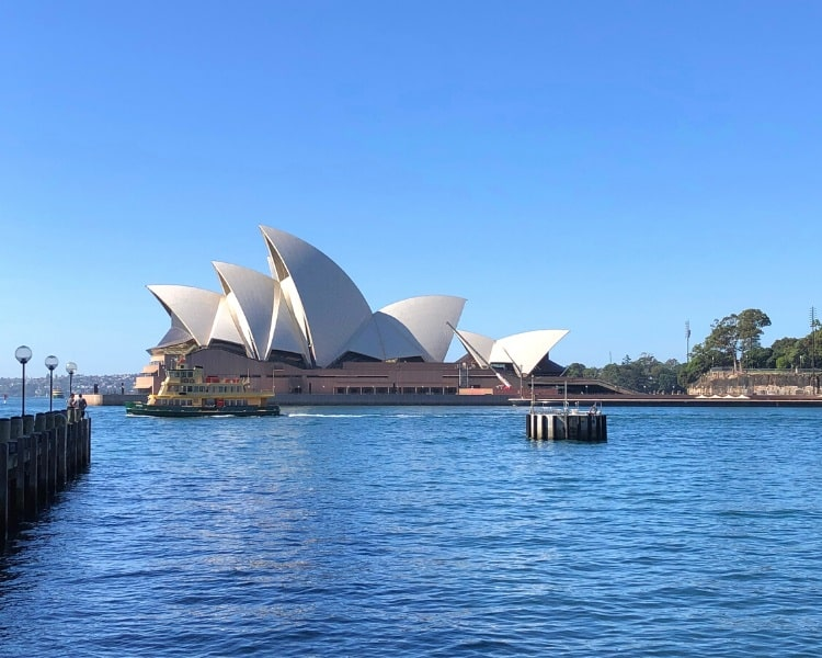Sydney Opera House facing Sydney Harbour