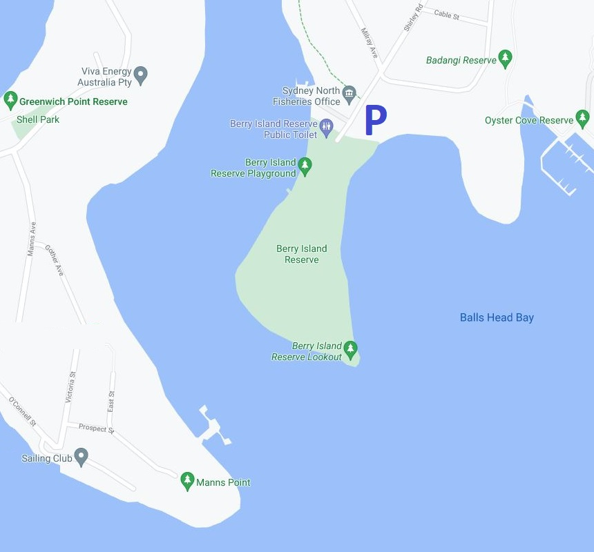 Map of Berry Island Reserve