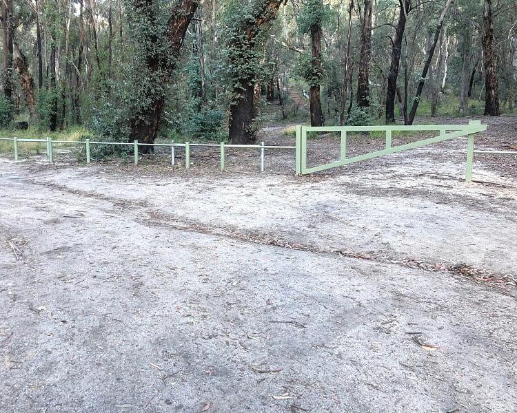 Car park for the Blackfellows Hand Cave