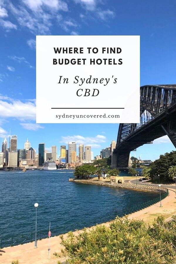 Budget hotel accommodation in Sydney CBD