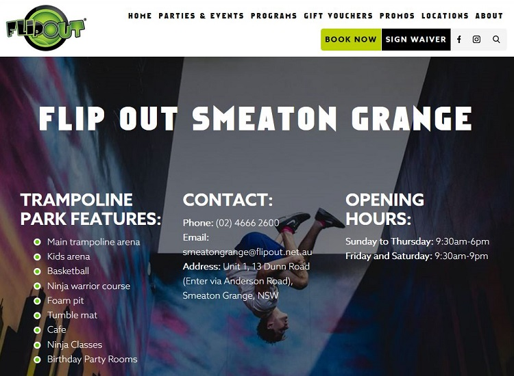 Flip Out Smeaton Grange