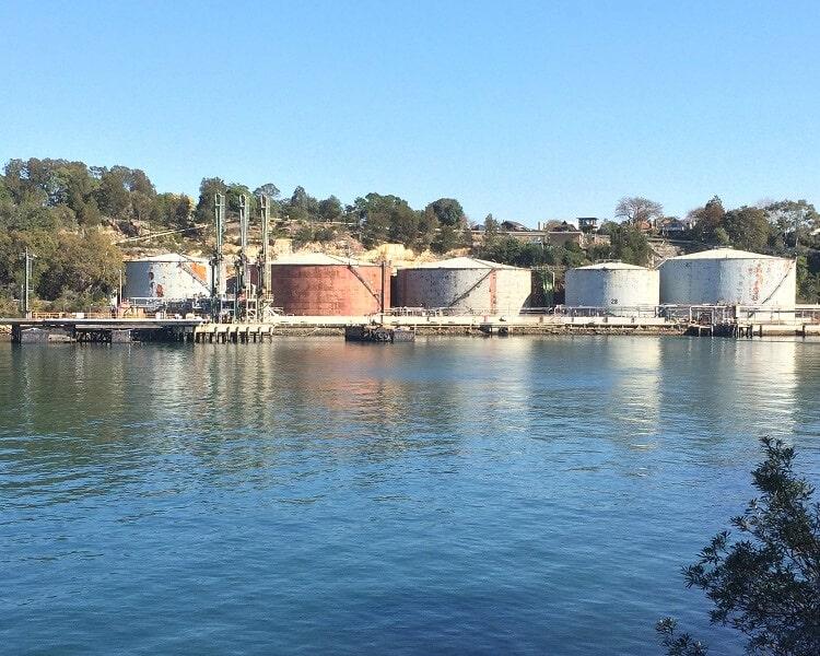 Greenwich oil tanks