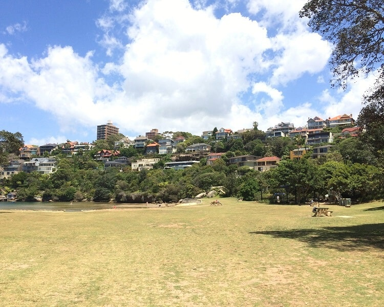 Large grass area at Sirius Cove Reserve
