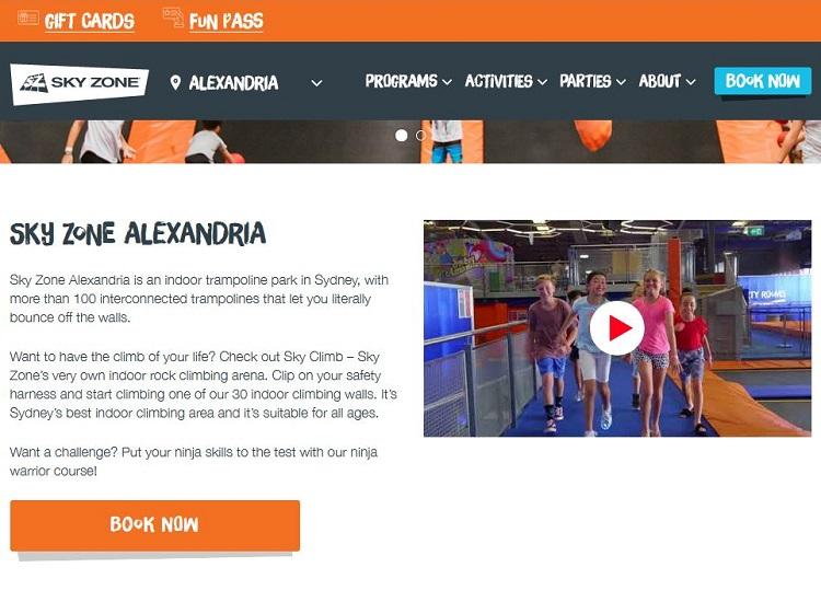 Sky Zone Alexandria indoor trampoline park