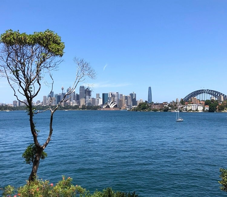 Sydney Harbour views from Cremorne Point