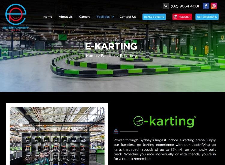Entertainment Park E-Karting in Bankstown