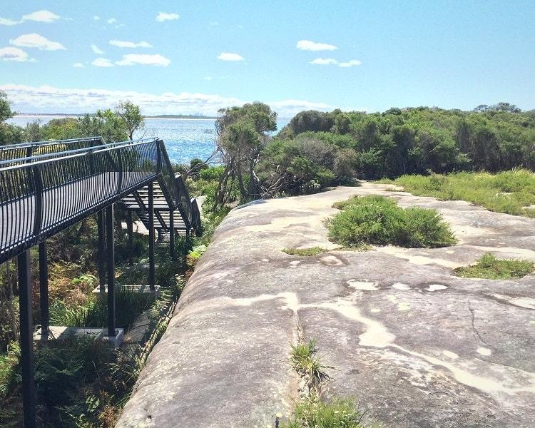 Boardwalk at Aboriginal engravings site
