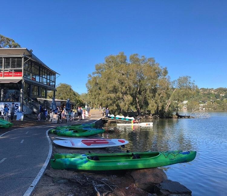 Boatshed Cafe in Narrabeen