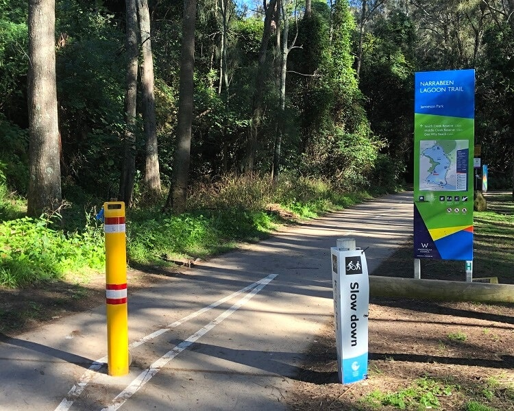 Entrance to Jamieson Park in Narrabeen