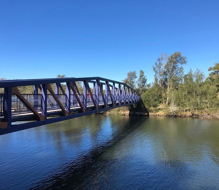 Steel bridge on the Narrabeen Lagoon Trail