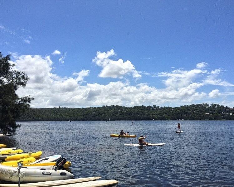 Water sports at Narrabeen Lakes