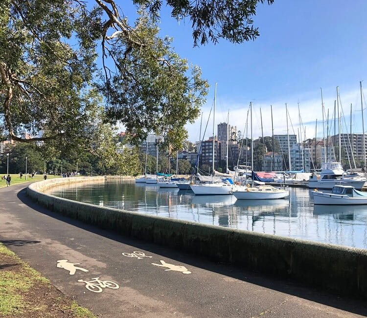 Rushcutters Bay between Rose Bay and Harbour Bridge
