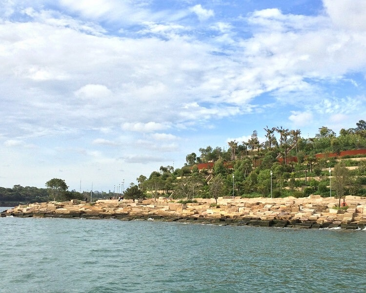 Barangaroo Reserve as seen from the water