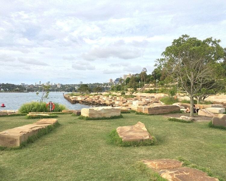 Sandstone blocks in Barangaroo Reserve