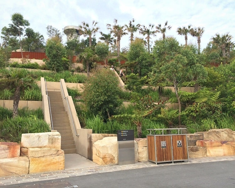 Stairs to higher levels in Barangaroo Reserve