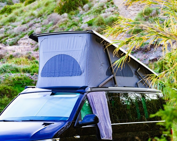 Compact roof top tent