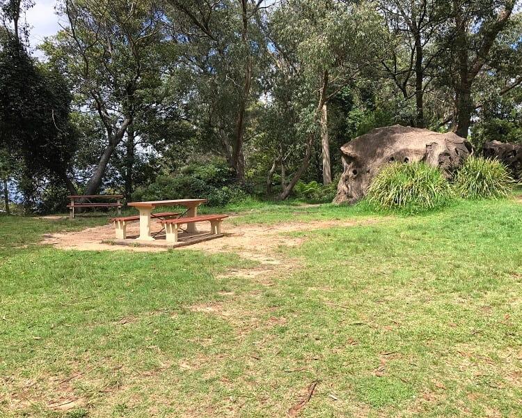 Picnic area at Gordon Falls Reserve