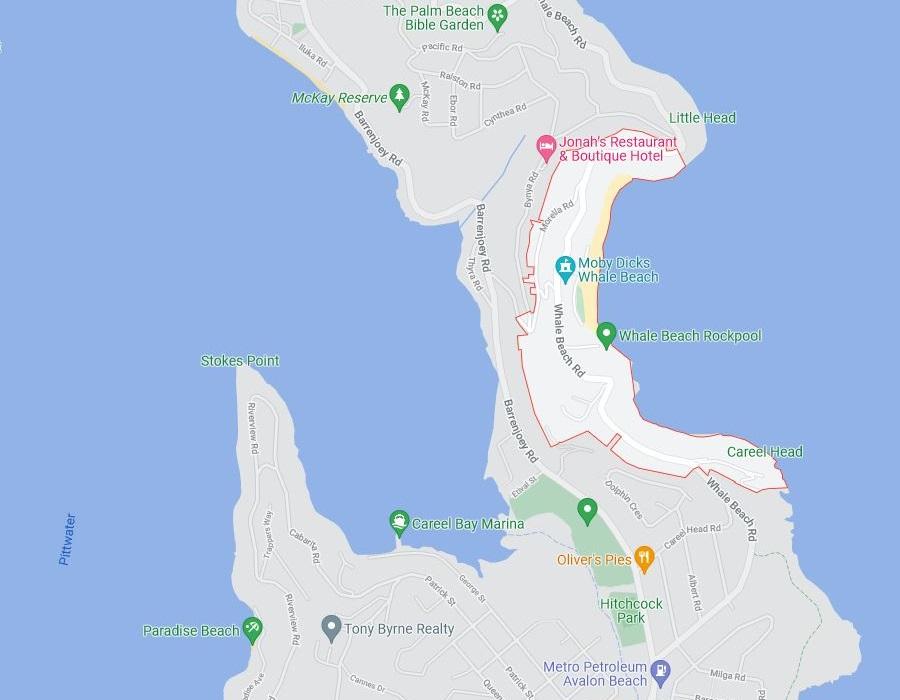 Map of Whale Beach